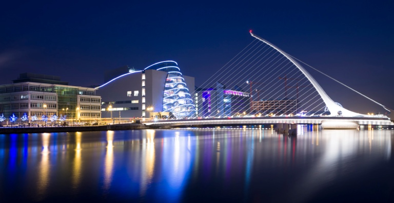 Samuel Beckett Bridge, Dublin, Ireland.